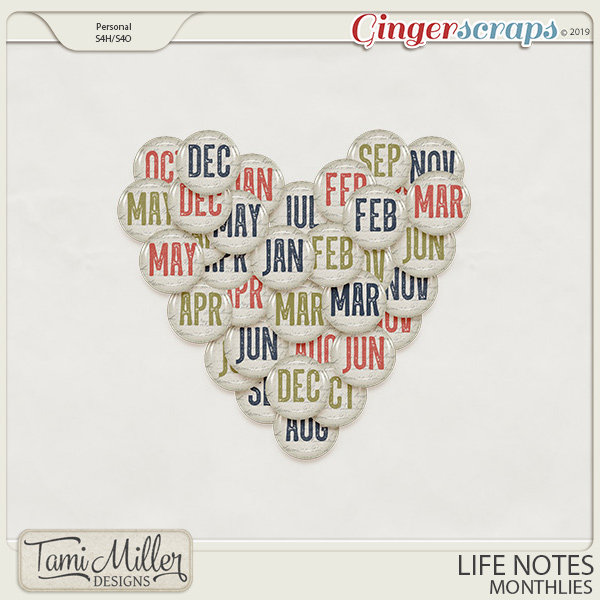 Life Notes Monthlies by Tami Miller Designs