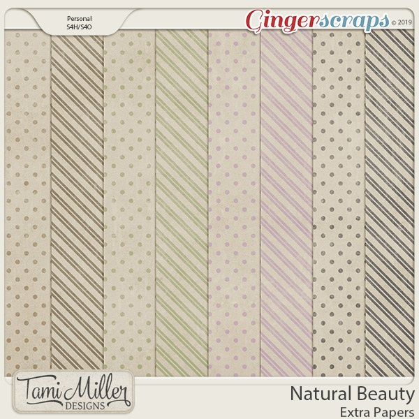 Natural Beauty Extra Papers by Tami Miller Designs