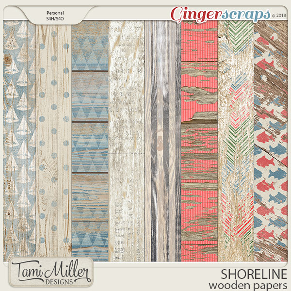 Shoreline Wooden Papers by Tami Miller Designs