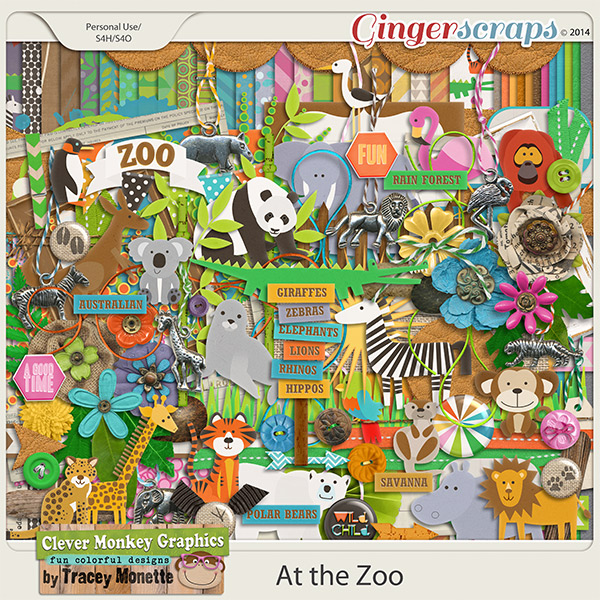 At the Zoo by Clever Monkey Graphics
