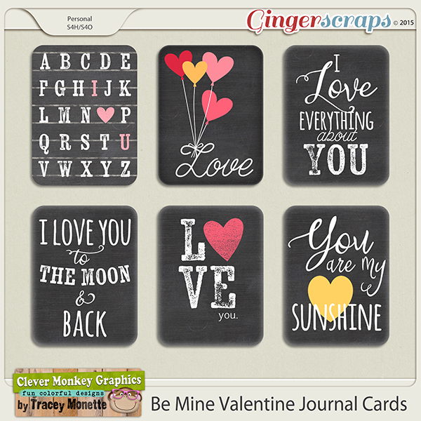 Be Mine Valentine Journal Cards by Clever Monkey Graphics