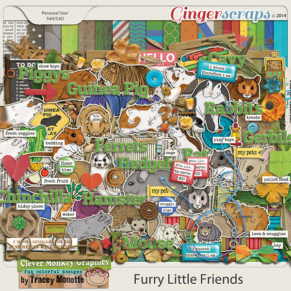 Furry Little Friends by Clever Monkey Graphics