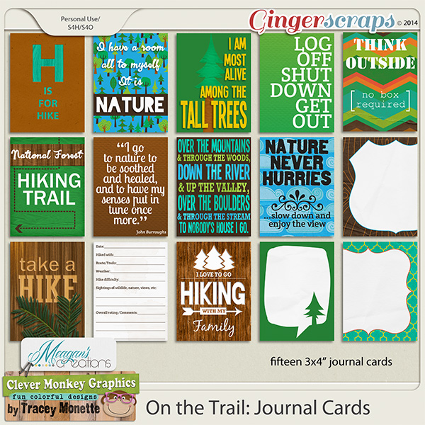 On the Trail: Journal Cards  by Clever Monkey Graphics & Meagans Creations