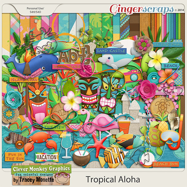 Tropical Aloha by Clever Monkey Graphics
