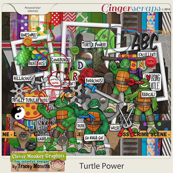 Turtle Power by Clever Monkey Graphics