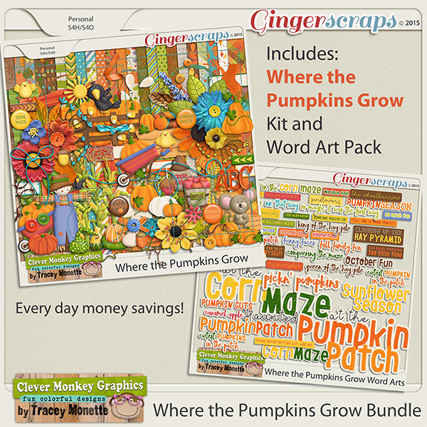 Where the Pumpkins Grow Bundle by Clever Monkey Graphics
