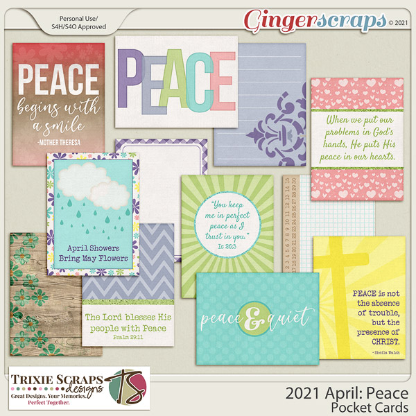 2021 April: Peace Pocket Cards by North Meets South Studios