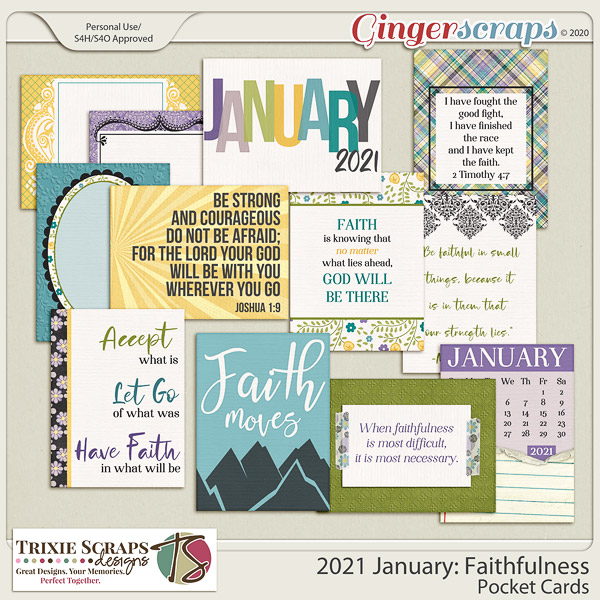 2021 January: Faithfulness Pocket Cards by North Meets South Studios