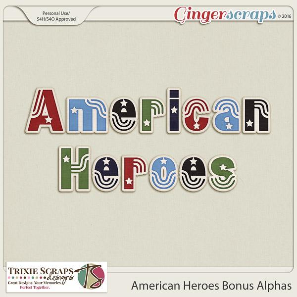 American Heroes Bonus Alphas by Trixie Scraps Designs