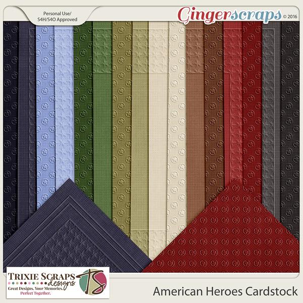 American Heroes Cardstock by Trixie Scraps Designs