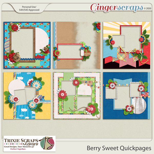 Berry Sweet Quickpages by Trixie Scraps Designs