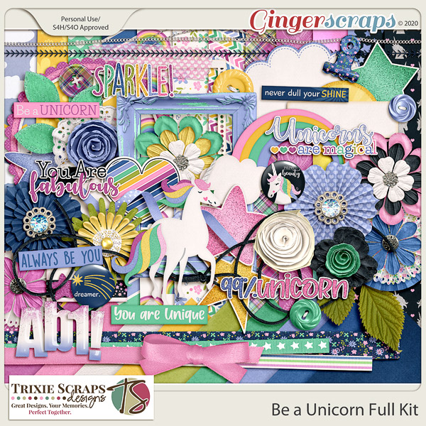 Be a Unicorn Full Kit by Trixie Scraps Designs