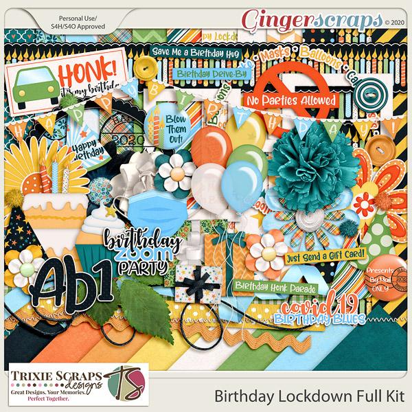 Birthday Lockdown Full Kit by Trixie Scraps Designs