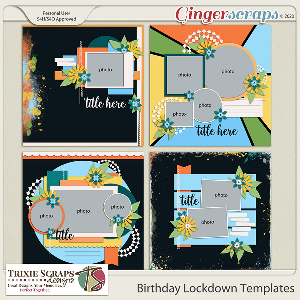 Birthday Lockdown Template Pack by Trixie Scraps Designs