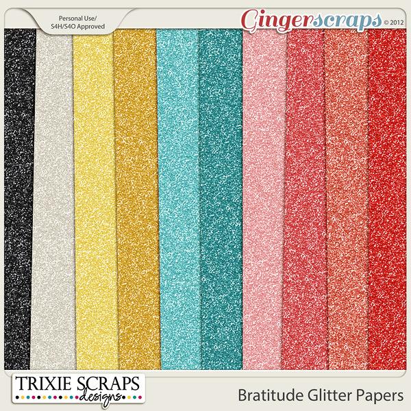 Bratitude Glitter Papers by Trixie Scraps Designs