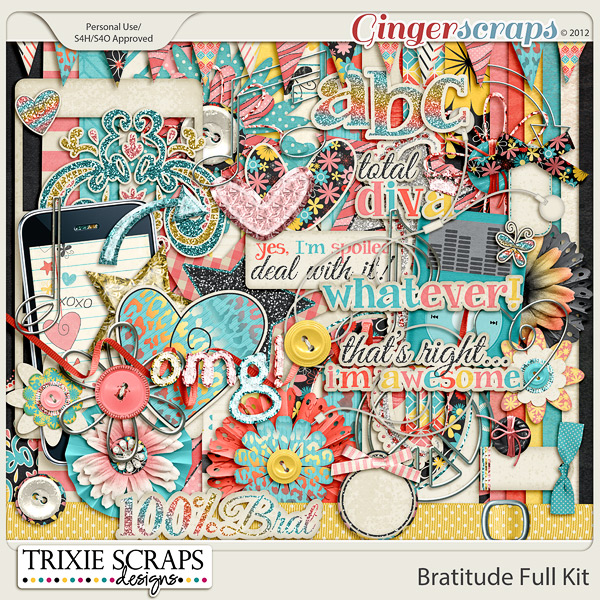 Bratitude Full Kit by Trixie Scraps Designs
