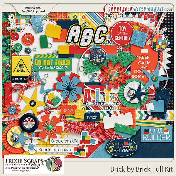 Brick by Brick Full Kit by Trixie Scraps Designs