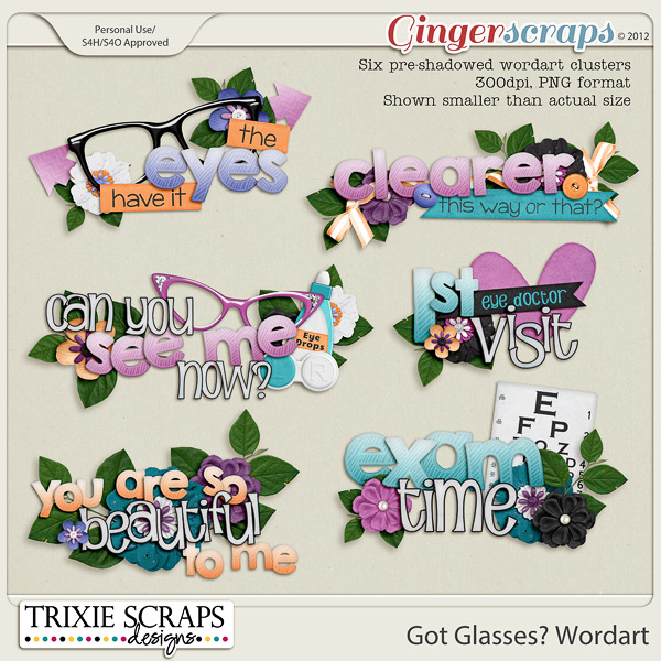 Got Glasses? Wordart by Trixie Scraps Designs