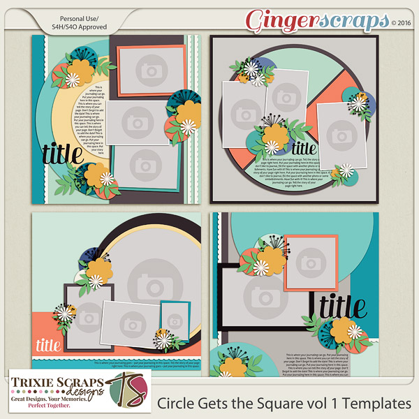 Circle Gets the Square vol 1 Templates by Trixie Scraps Designs