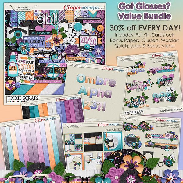 Got Glasses? Value Bundle by Trixie Scraps Designs
