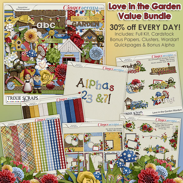 Love in the Garden Value Bundle by Trixie Scraps Designs