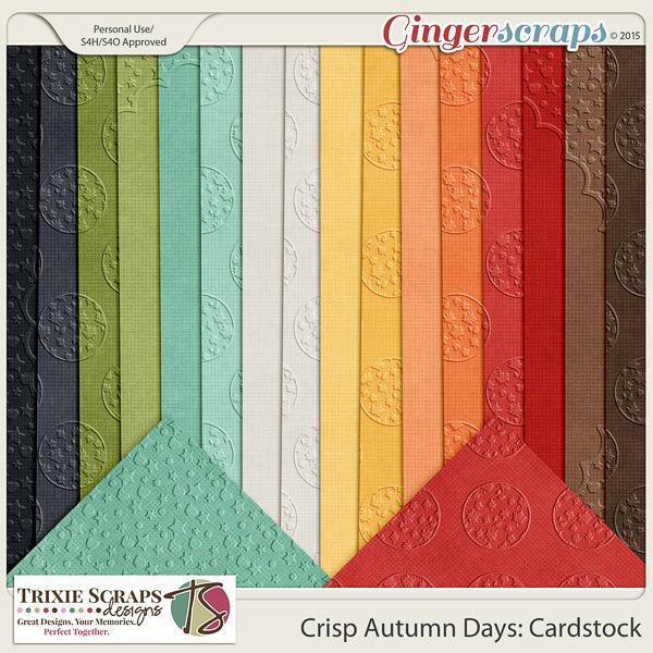 Crisp Autumn Days Cardstock by Trixie Scraps Designs