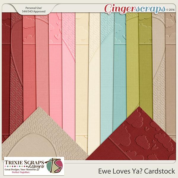 Ewe Loves Ya? Cardstock by Trixie Scraps Designs