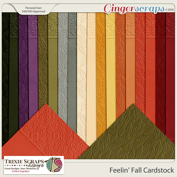 Feelin' Fall Cardstock by Trixie Scraps Designs