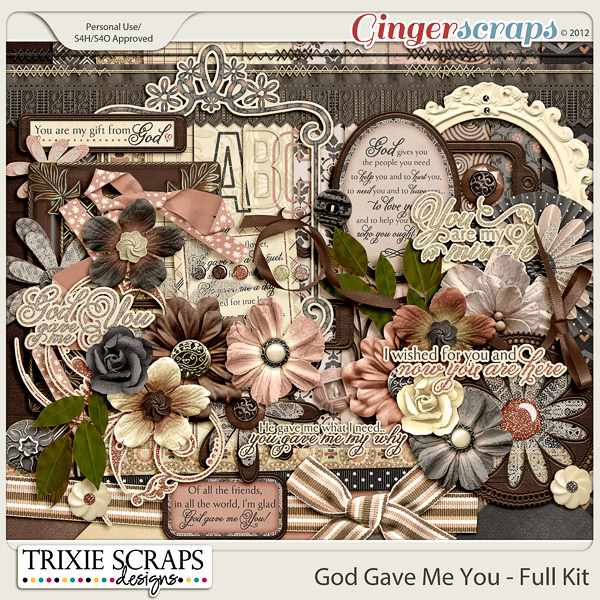 God Gave Me You Full Kit by Trixie Scraps Designs