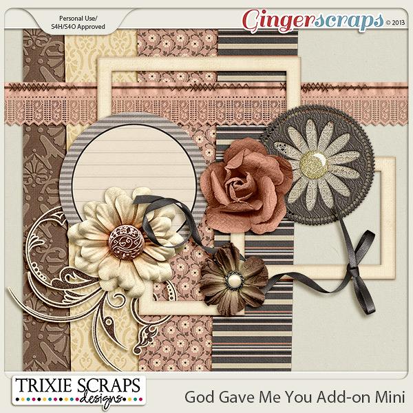 God Gave Me You Mini Kit by Trixie Scraps Designs