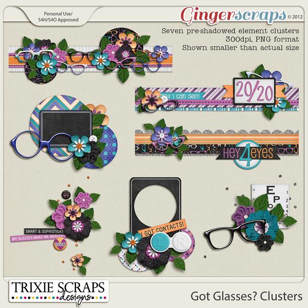 Got Glasses? Clusters by Trixie Scraps Designs