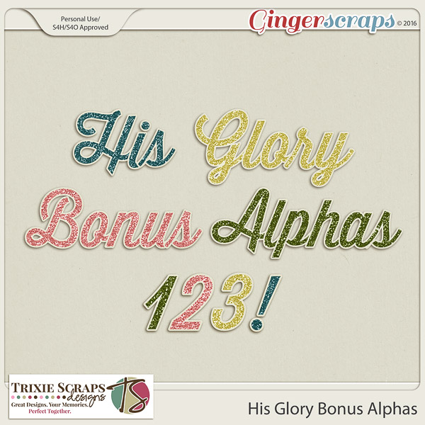 His Glory Bonus Alphas by Trixie Scraps Designs
