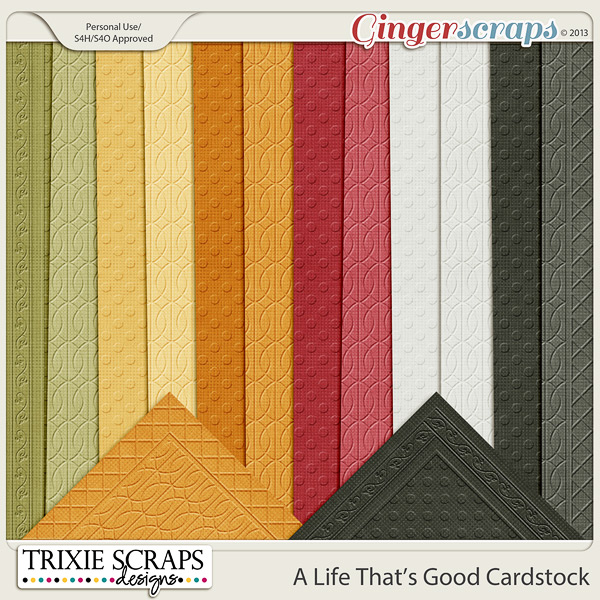 A Life That's Good Cardstock by Trixie Scraps Designs