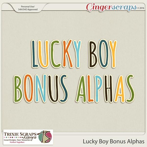 Lucky Boy Bonus Alphas by Trixie Scraps Designs
