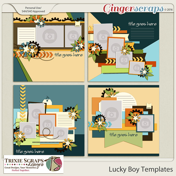 Lucky Boy Templates by Trixie Scraps Designs