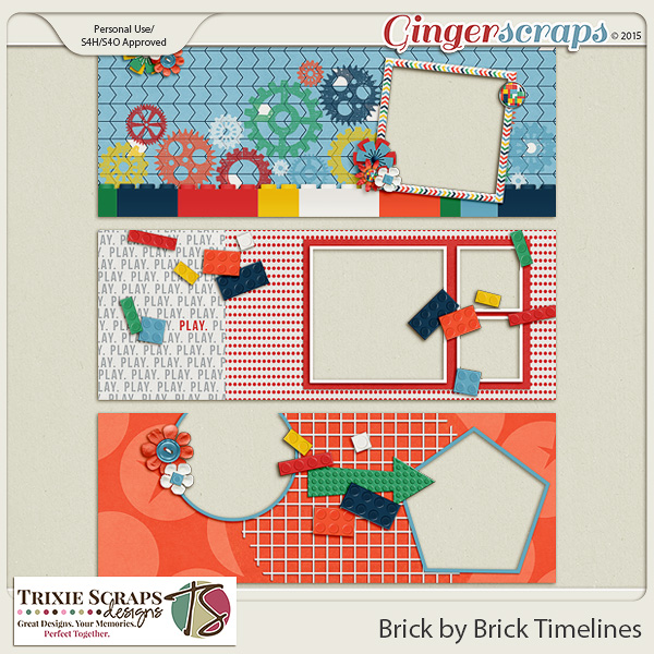 Brick by Brick Timelines by Trixie Scraps Designs