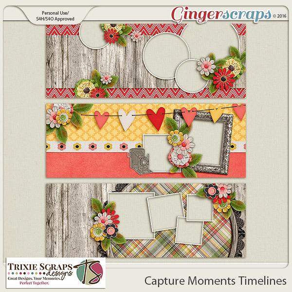 Capture Moments Timelines by Trixie Scraps Designs