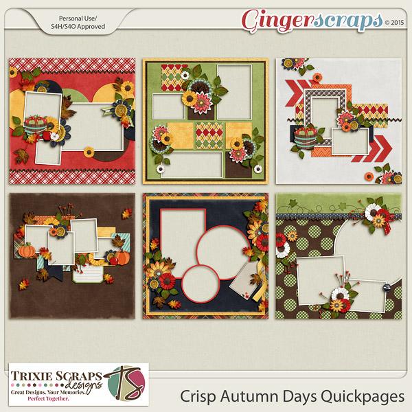 Crisp Autumn Days Quickpages by Trixie Scraps Designs