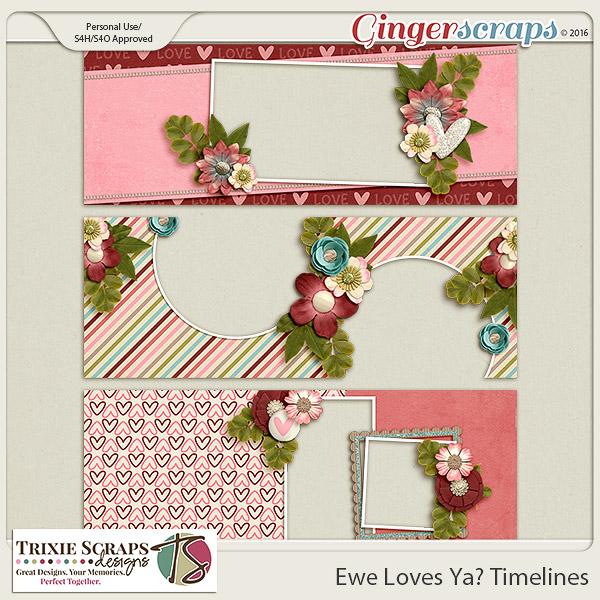 Ewe Loves Ya? Timelines by Trixie Scraps Designs