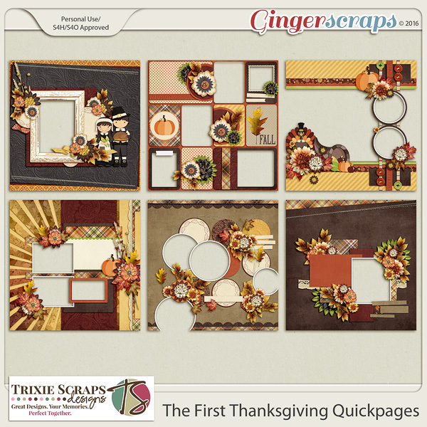 The First Thanksgiving Quickpages by Trixie Scraps Designs