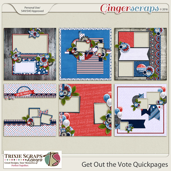 Get Out the Vote Quickpages by Trixie Scraps Designs