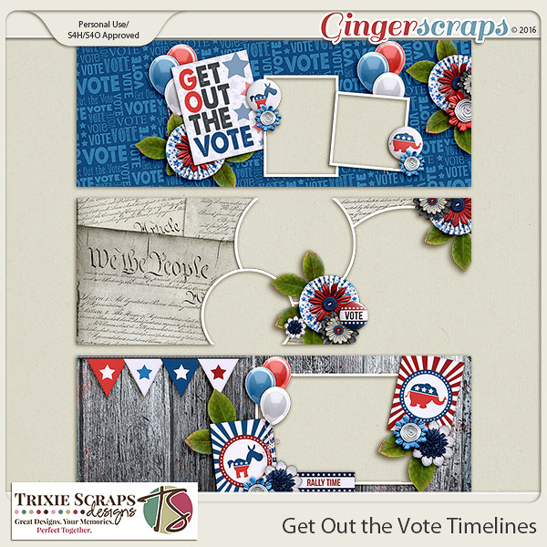 Get Out the Vote Timelines by Trixie Scraps Designs