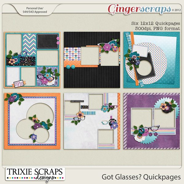 Got Glasses? Quickpages by Trixie Scraps Designs