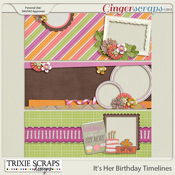 It's Her Birthday Timeline Covers by Trixie Scraps Designs