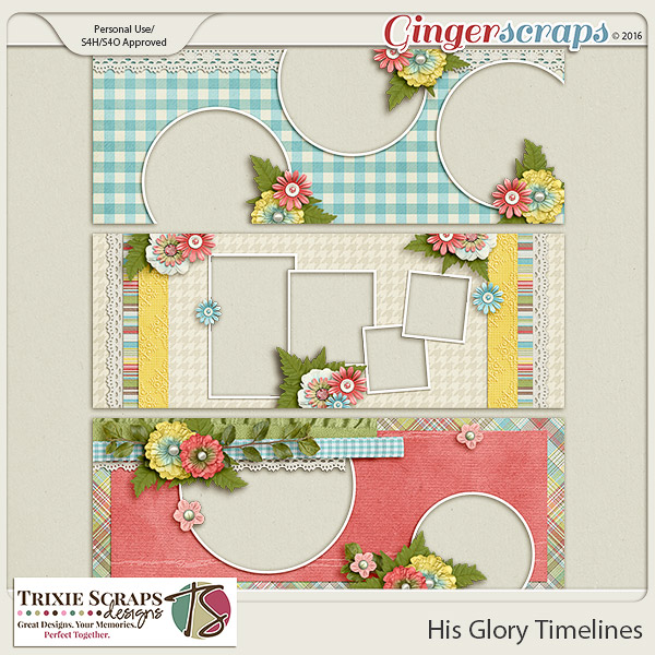 His Glory Timelines by Trixie Scraps Designs