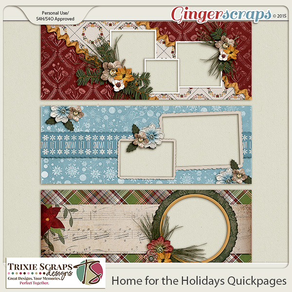 Home for the Holidays Timelines by Trixie Scraps Designs