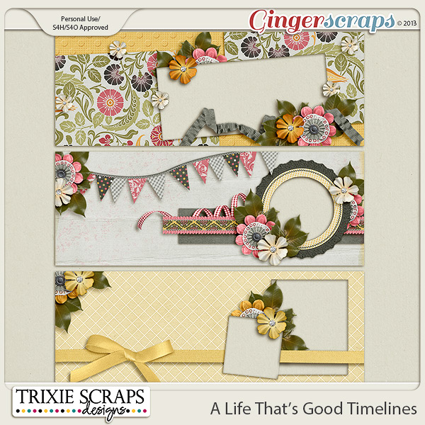 A Life That's Good Timelines by Trixie Scraps Designs