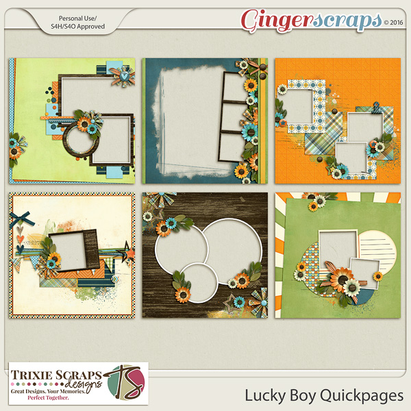 Lucky Boy Quickpages by Trixie Scraps Designs