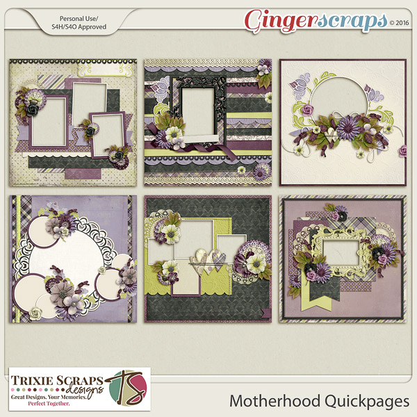 Motherhood Quickpages by Trixie Scraps Designs