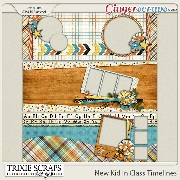 New Kid in Class Timelines by Trixie Scraps Designs